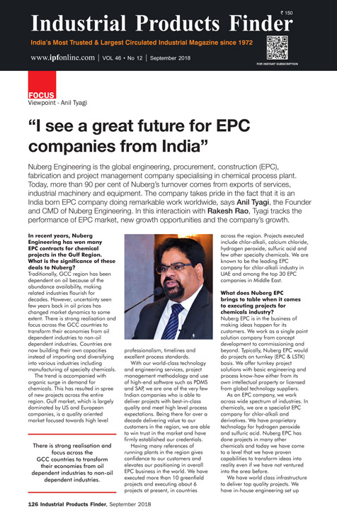 I see a great future for EPC companies from India