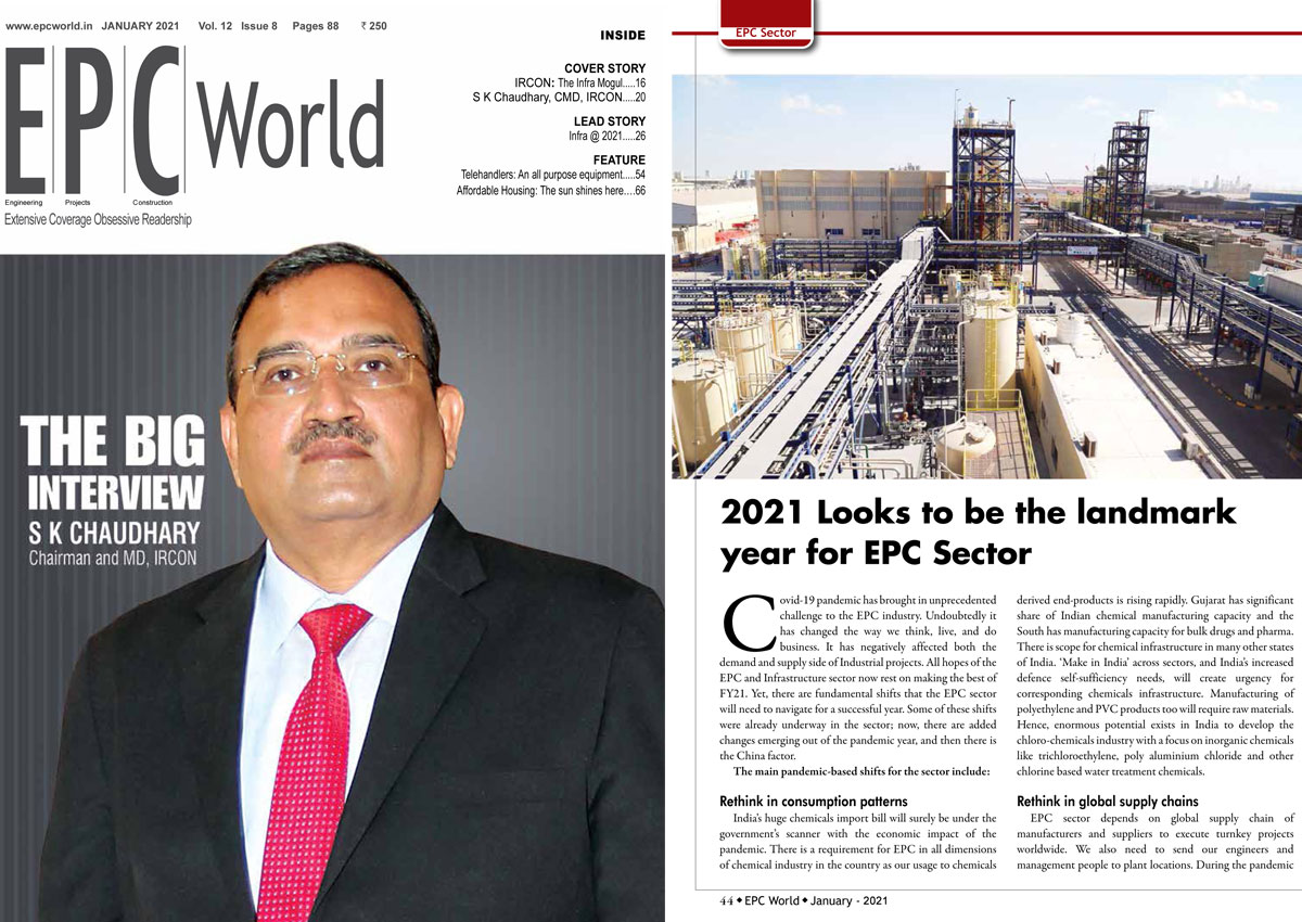 Mr. AK Tyagi, CMD, Nuberg Engineering Ltd., shared his views about EPC industry in 2021