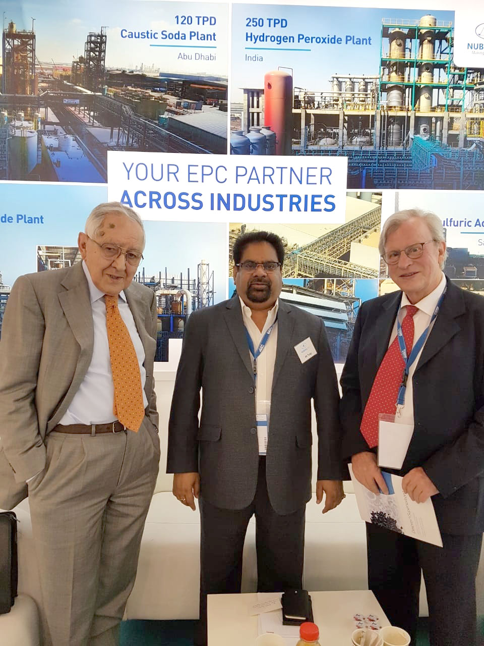 AK Tyagi, Nuberg Mananging Director with guests at ACHEMA 2018