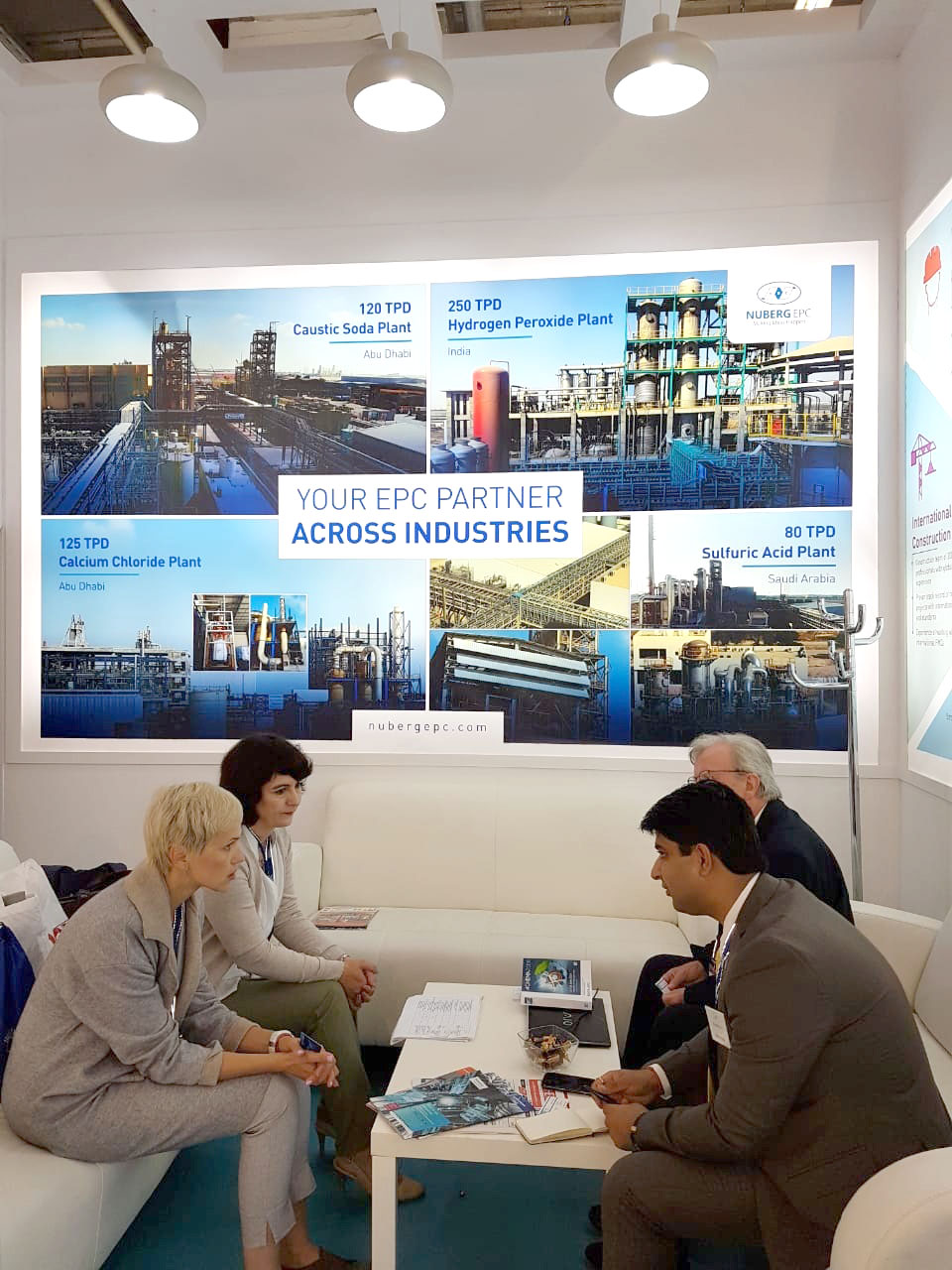 Amit Tyagi, Nuberg Director interact with guests at ACHEMA 2018-2
