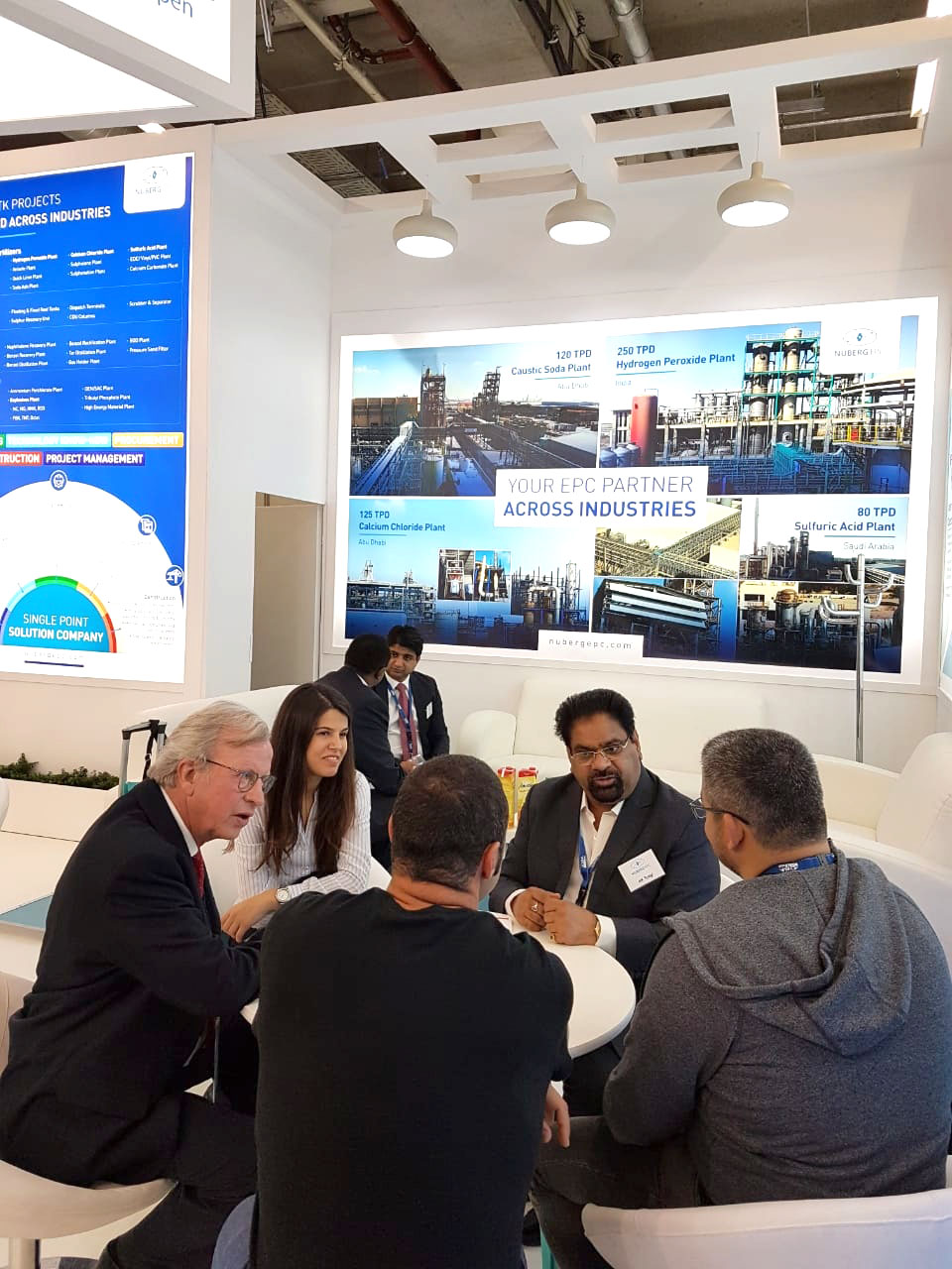 AK Tyagi, Nuberg Managing Director interact with guests at ACHEMA 2018-5