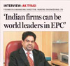 AK Tyagi, Chairman & Managing Director, Nuberg, interview in Financial Express